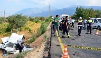 Manisada trafik kazası: 2 ölü, 2 yaralı