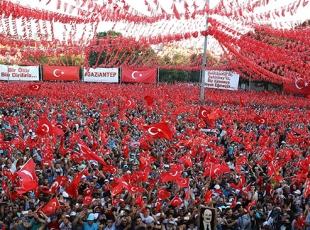 Gaziantep'teki mitinge büyük ilgi