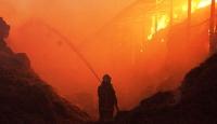 Bayburtta çıkan yangında 11 ev kül oldu