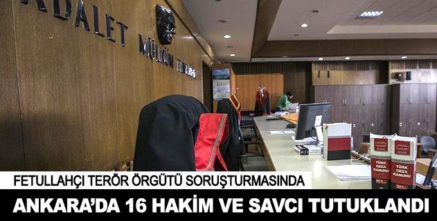 Ankarada 16 askeri hakim ve savcı tutuklandı