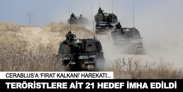 Teröristlere ait 21 hedef imha edildi
