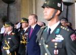 Cumhurbaşkanı Erdoğan, Anıtkabirde düzenlenen törene katıldı