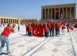 30 Ağustos Zafer Bayramında Anıtkabir Ziyaretçi Akınına Uğradı