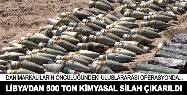 Libyadan 500 ton kimyasal silah çıkarıldı