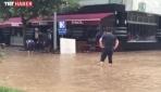Trabzonda şiddetli yağış, su baskınlarına neden oldu