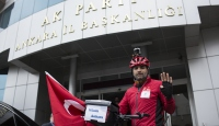 Almanyadan Ankaraya pedal çevirdi