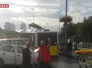 İstanbul'da metrobüs…