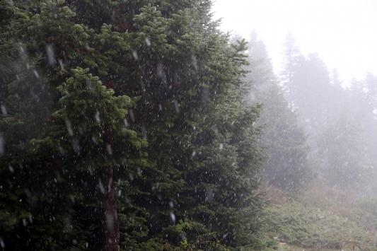 Boluya kar yağdı