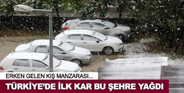 Türkiyede şehir merkezine ilk kar Erzurumda yağdı