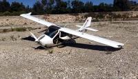 Antalyada ultralight tipi uçak zorunlu iniş yaptı