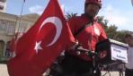 Bisikletle Almanyadan İzmire geldi