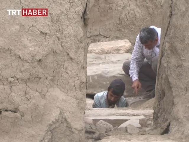 2 bin 800 yıllık kanalizasyon sistemi, gün yüzüne çıkarıldı