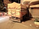 Samsun'da kamyon iş yerine girdi