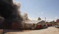 Fabrika yangını 4 saatte söndürüldü