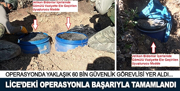 Diyarbakır Licedeki terör operasyonu başarıyla tamamlandı