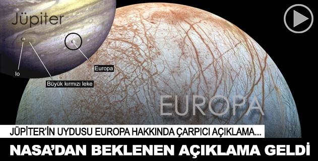 NASA Jüpiterin uydusu Europadaki araştırma sonuçlarını açıkladı