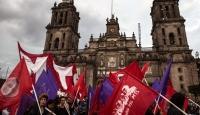 Meksikada kaybolan öğrenciler için gösteri düzenledi