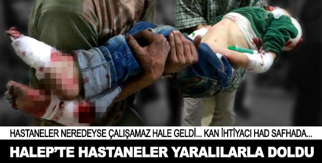 Halepte hastaneler yaralılarla doldu