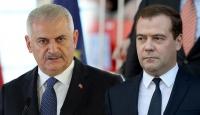 Başbakan Yıldırım ile Rusya Başbakanı Medvedev görüştü