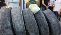 Kamyon lastiklerine gizlenmiş 113 kilo esrar ele geçirildi
