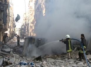 Halepte yerleşim yerine saldırı