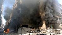 """Halepte yerleşim alanına """"vakum bombalı"""" saldırı"""