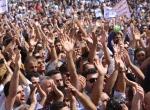 IKBYdeki memurlardan hükümet karşıtı gösteri