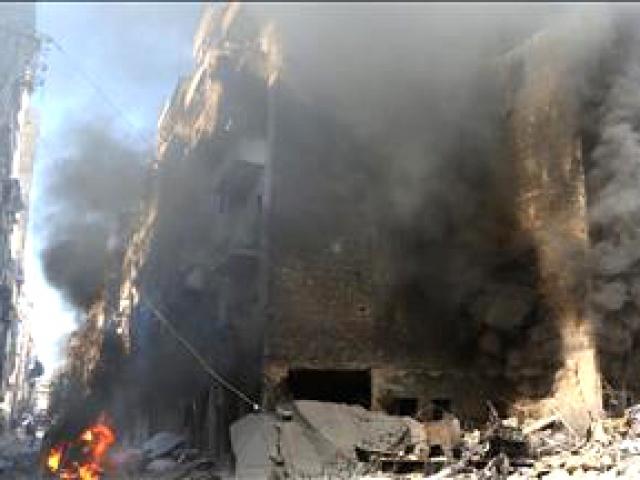 Halepte yerleşim alanına vakum bombalı saldırı