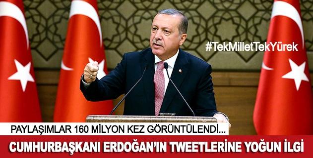 Erdoğanın tweetleri 160 milyon kez görüntülendi