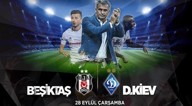 Beşiktaş-Dinamo Kiev maçının ilk 11leri