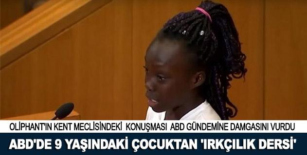 ABDde 9 yaşındaki çocuktan ırkçılık dersi