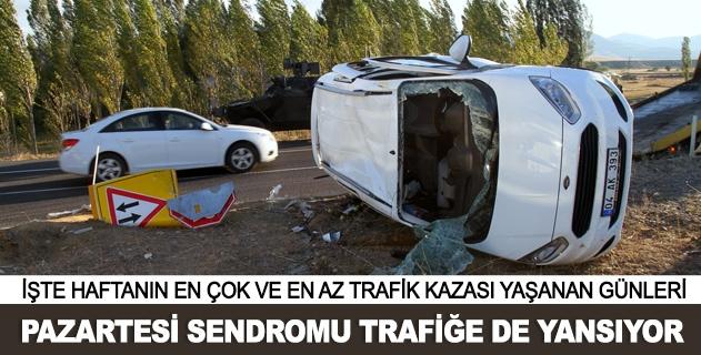 Trafik kazaları en çok haftanın bu günü oluyor