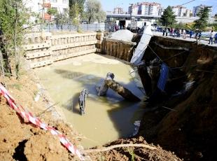 Ankarada inşaatta göçük