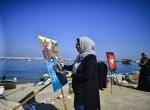 """Filistinli kadınlar """"özgürlük filosu"""" için resim yaptı"""