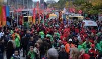 Brükselde kemek sıkma politikaları protesto edildi