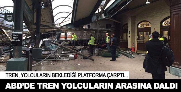 ABDde yolcu treni istasyona çarptı