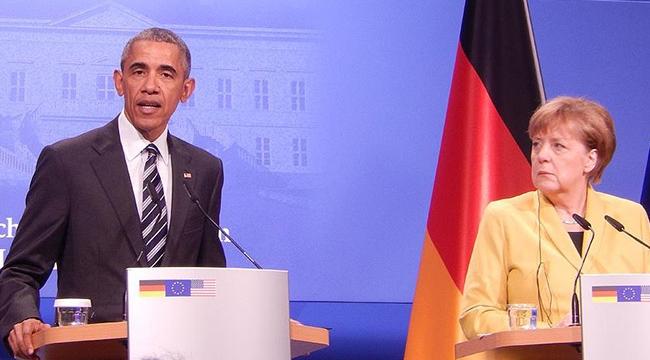 """Obama ve Merkel, Rusya ile Esed rejiminin """"barbarca"""" saldırılarını kınadı"""