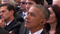 Obama, Peresin cenaze töreninde kipa giydi