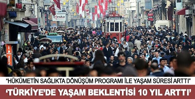 Türkiyede yaşam süresi arttı