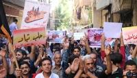 Rusyanın Suriyedeki saldırılarının 1. yılında protesto edildi