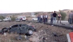 Belediye başkanının aracı kaza yaptı