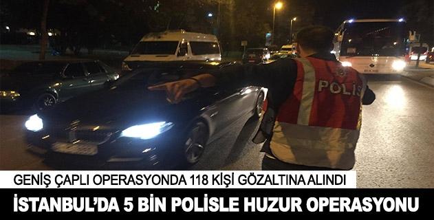 İstanbulda geniş çaplı asayiş uygulaması