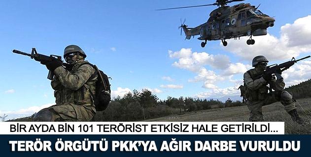Terör örgütü PKKya bir ayda ağır darbe vuruldu