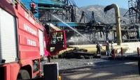 Aydında jeotermal tesislerinde yangın