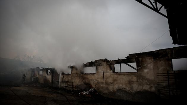 Konyada palet fabrikasında yangın
