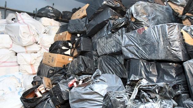 Bitliste 102 bin 660 paket kaçak sigara ele geçirildi