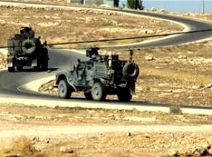 Peşmerge güçlerinin askeri araç ve silah sevkiyatı