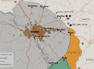 Musul güney, doğu ve kuzeyindeki 5 bölgeden tamamen kuşatıldı