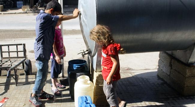 Halepte su şebekesinin yüzde 80i hizmet dışı