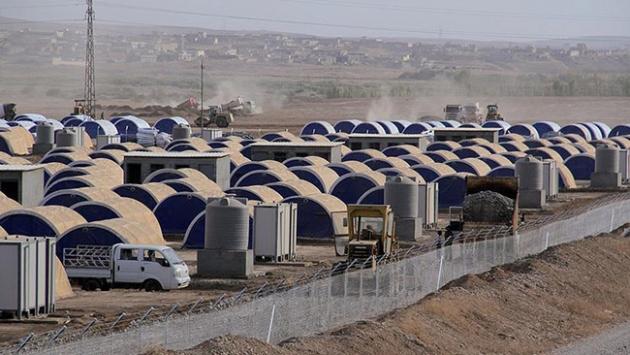 Musuldan kaçan göçmenler için çadır kamp kuruluyor